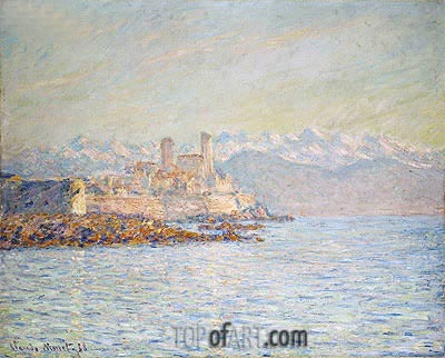 The Old Fort at Antibes, 1888 | Monet | Painting Reproduction