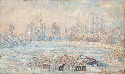 Frost near Vetheuil, 1880 | Monet| Painting Reproduction