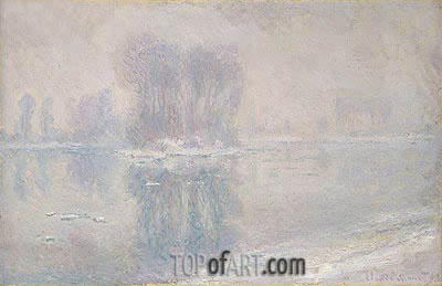 Ice Floes, 1893 | Monet | Painting Reproduction