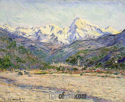 The Valley of the Nervia, 1884 | Monet| Painting Reproduction
