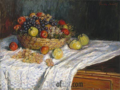 Apples and Grapes, c.1879/80 | Monet| Painting Reproduction