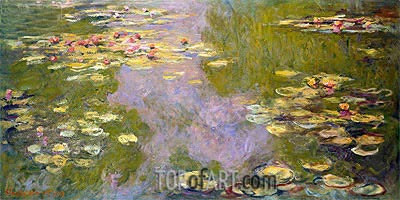 Water Lilies, 1919 | Monet| Painting Reproduction
