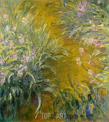 The Path through the Irises, c.1914/17 | Monet | Painting Reproduction