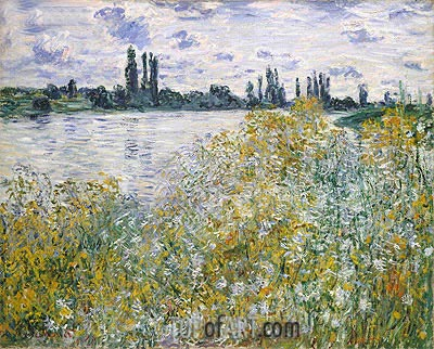 Ile aux Fleurs near Vetheuil, 1880 | Monet| Painting Reproduction