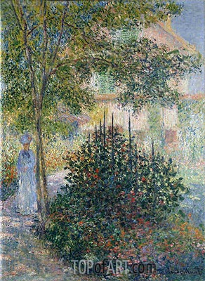 Camille Monet in the Garden at Argenteuil, 1876 | Monet| Painting Reproduction