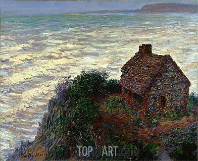 House of the Customs Officer, Varengeville, 1882 | Monet | Painting Reproduction