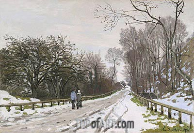 Road toward the Farm Saint-Simeon, Honfleur, 1867 | Monet| Painting Reproduction