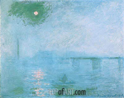 Charing Cross Bridge: Fog on the Thames, 1903 | Monet| Painting Reproduction