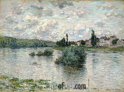 View of the Seine, Lavacourt, 1880 | Monet| Painting Reproduction