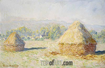Haystacks, Morning Effect, 1891 | Monet | Painting Reproduction