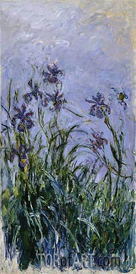 Purple Irises, c.1914/17 | Monet| Painting Reproduction