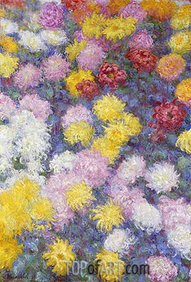 Chrysanthemums, 1897 | Monet| Painting Reproduction