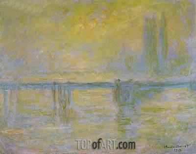 Charing Cross Bridge: Fog, 1902 | Monet | Painting Reproduction