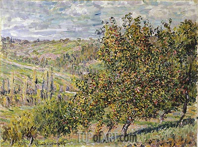 Apple Blossom, 1878 | Monet| Painting Reproduction