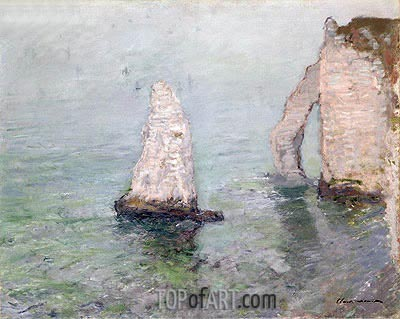 The Rock Needle and the Porte d'Aval, c.1885 | Monet | Painting Reproduction