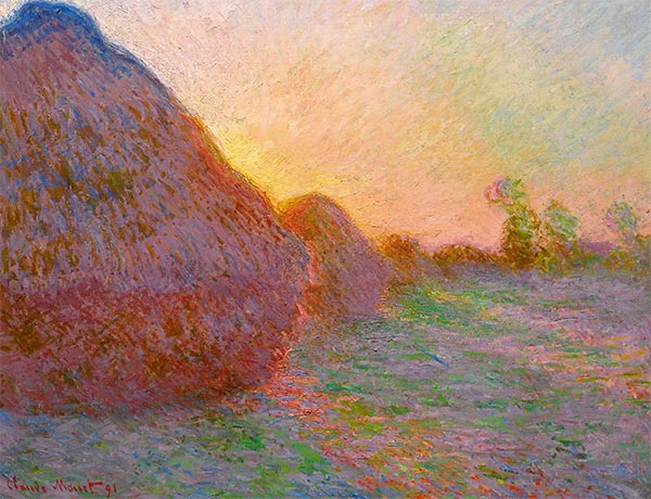 Haystacks, 1891 | Monet | Painting Reproduction