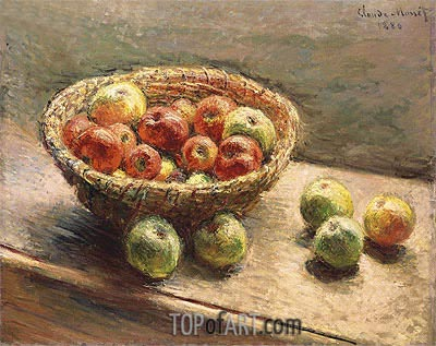 A Bowl of Apples, 1880 | Monet | Painting Reproduction
