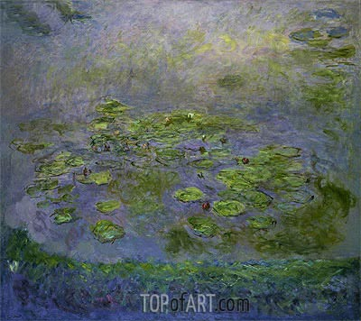 Nympheas (Water Lilies), c.1914/17 | Monet | Painting Reproduction