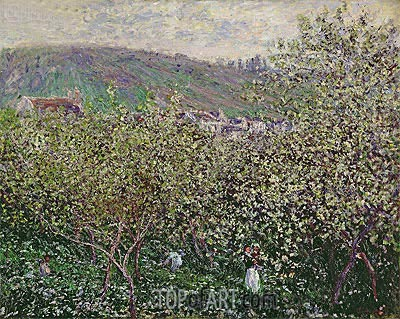 Fruit Pickers, 1879 | Monet| Gemälde Reproduktion