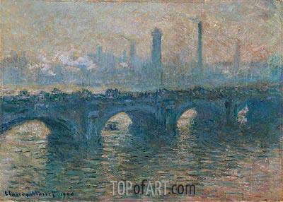 Monet | Waterloo Bridge, Gray Weather, 1900