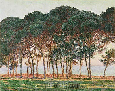 Under the Pines, Evening, 1888 | Monet | Painting Reproduction
