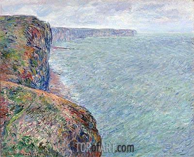 Sea View with Cliffs, 1881 | Monet | Painting Reproduction