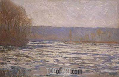 Break-up of the Ice on the Seine, near Bennecourt, c.1892/93 | Monet | Painting Reproduction