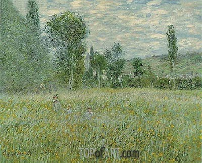 The Meadow (La Prairie), 1879 | Monet| Gemälde Reproduktion