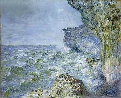 The Sea at Fecamp, 1881 | Monet| Gemälde Reproduktion