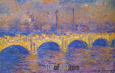 Waterloo Bridge, Sunlight Effect, 1903 | Monet| Gemälde Reproduktion