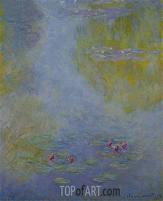 Water Lilies (Nympheas), 1908 | Monet | Gemälde Reproduktion
