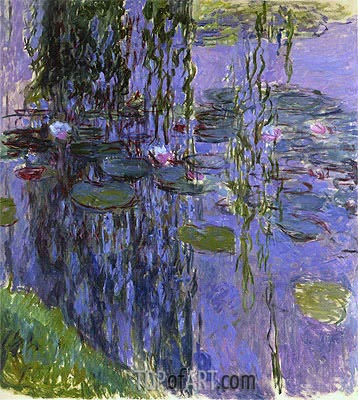 Willow Fronds and Water Lilies, c.1914/17 | Monet| Painting Reproduction