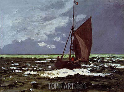 Stormy Seascape, 1867 | Monet | Painting Reproduction