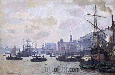 The Thames at London, 1871 | Monet | Painting Reproduction