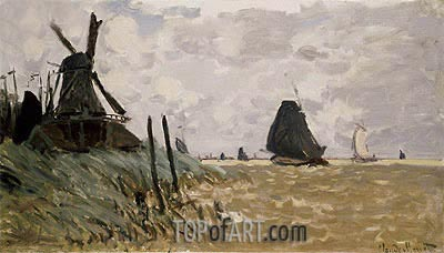 A Mill near Zaandam, 1871 | Monet| Painting Reproduction