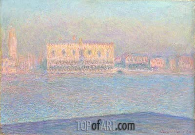The Doge's Palace Seen from San Giorgio Maggiore, 1908 | Monet | Painting Reproduction