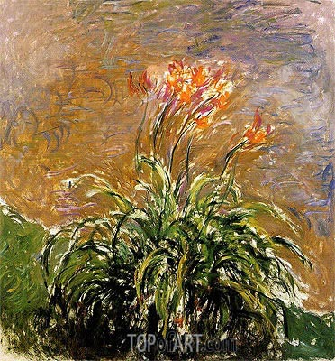 Hemerocallis, c.1914/17 | Monet| Gemälde Reproduktion