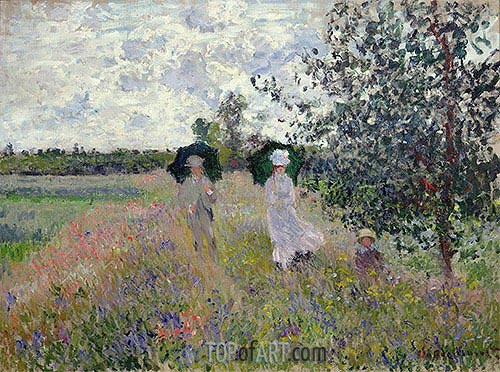 Promenade near Argenteuil, c.1873/75 | Monet | Painting Reproduction