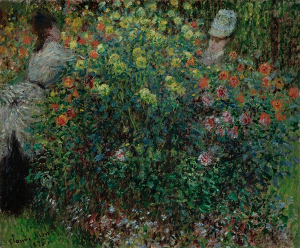 Women Amidst Flowers, 1875 | Monet | Gemälde Reproduktion