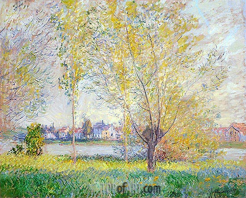 Willows at Vetheuil, 1880 | Monet | Painting Reproduction
