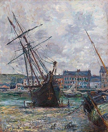 Boote Liegen bei Ebbe bei Fécamp, 1881 | Monet | Gemälde Reproduktion