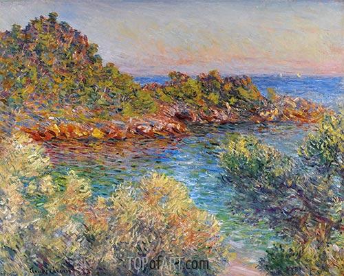 In der Nähe von Monte Carlo, 1883 | Monet | Gemälde Reproduktion