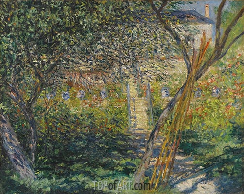 The Garden of Vétheuil, 1881 | Monet | Painting Reproduction