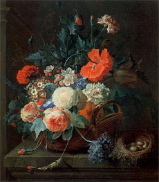 An Arrangement of Flowers in a Vase, 1724 by Coenraet Roepel | Painting Reproduction