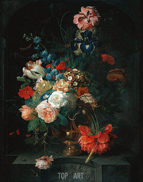 Still Life with Flowers, 1721 | Coenraet Roepel | Painting Reproduction