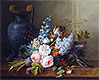 Flower Bunch with a Bird Nest | Cornelis van Spaendonck