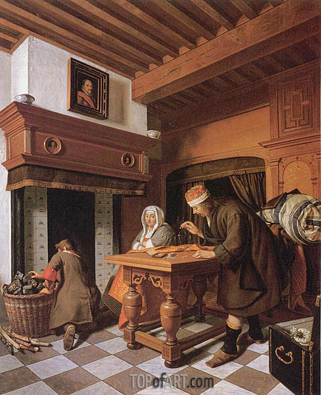 The Gold Weigher, c.1670/75 | Cornelis de Man | Painting Reproduction