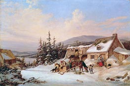 Quebec, 1858 by Cornelius Krieghoff | Painting Reproduction