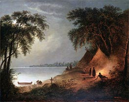 Indian Burial | Cornelius Krieghoff | Painting Reproduction