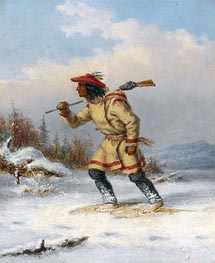 Following the Moose | Cornelius Krieghoff | Painting Reproduction